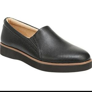 Naturalizer black perforated slip on shoes size 7